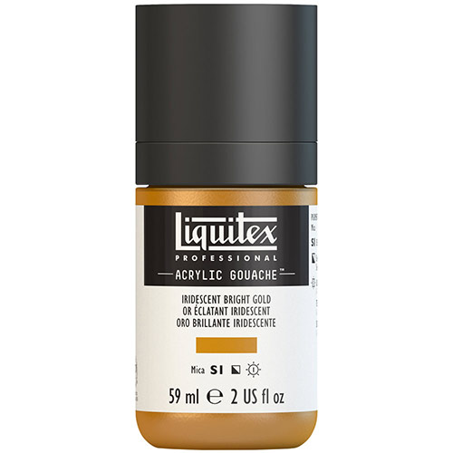 Liquitex Professional Acrylic Gouache Paint - (2oz/59ml) Iridescent Bright Gold