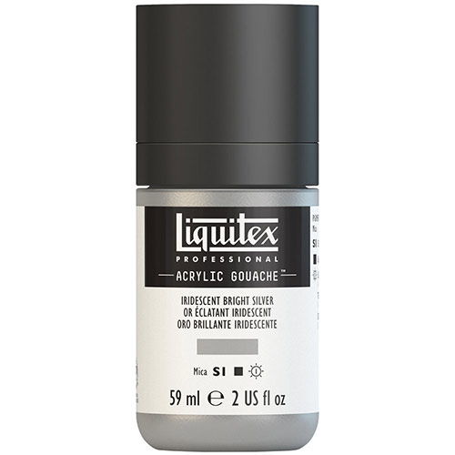 Liquitex Professional Acrylic Gouache Paint - (2oz/59ml) Iridescent Bright Silver
