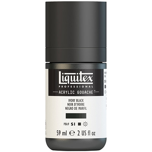 Liquitex Professional Acrylic Gouache Paint - (2oz/59ml) Ivory Black