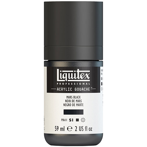 Liquitex Professional Acrylic Gouache Paint - (2oz/59ml) Mars Black