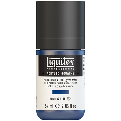 Liquitex Professional Acrylic Gouache Paint - (2oz/59ml) Phthalocyanine Blue (Green Shade)