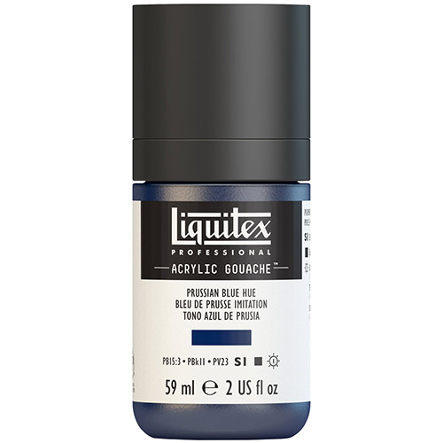 Liquitex Professional Acrylic Gouache Paint - (2oz/59ml) Prussian Blue Hue