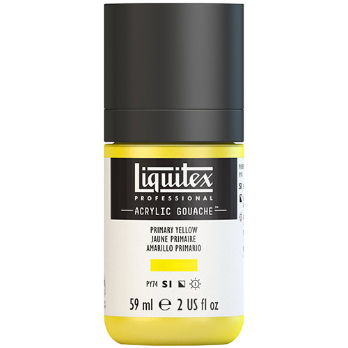 Liquitex Professional Acrylic Gouache Paint - (2oz/59ml) Primary Yellow
