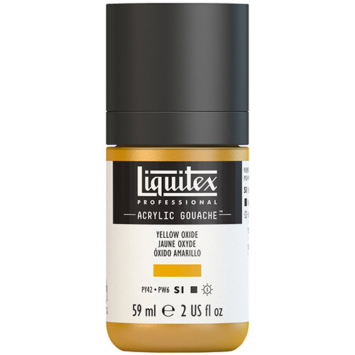 Liquitex Professional Acrylic Gouache Paint - (2oz/59ml) Yellow Oxide
