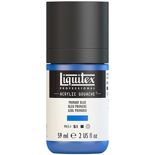 Liquitex Professional Acrylic Gouache Paint - (2oz/59ml) Primary Blue