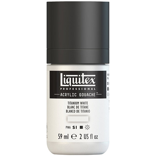 Liquitex Professional Acrylic Gouache Paint - (2oz/59ml) Titanium White
