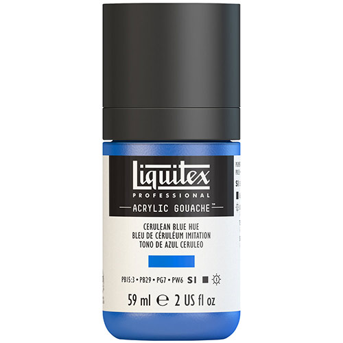 Liquitex Professional Acrylic Gouache Paint - (2oz/59ml) Cerulean Blue Hue