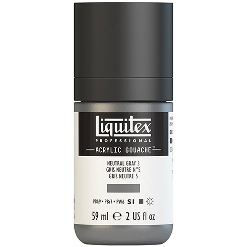 Liquitex Professional Acrylic Gouache Paint - (2oz/59ml) Neutral Gray 5