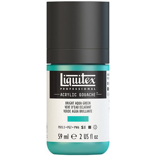 Liquitex Professional Acrylic Gouache Paint - (2oz/59ml) Bright Aqua Green