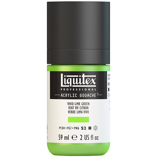 Liquitex Professional Acrylic Gouache Paint - (2oz/59ml) Vivid Lime Green