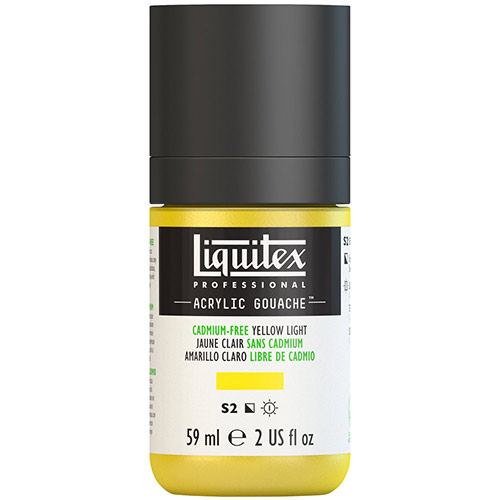 Liquitex Professional Acrylic Gouache Paint - (2oz/59ml) Cadmium-Free Yellow Light