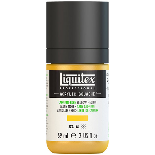 Liquitex Professional Acrylic Gouache Paint - (2oz/59ml) Cadmium-Free Yellow Medium