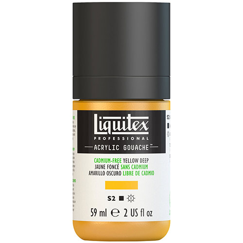 Liquitex Professional Acrylic Gouache Paint - (2oz/59ml) Cadmium-Free Yellow Deep