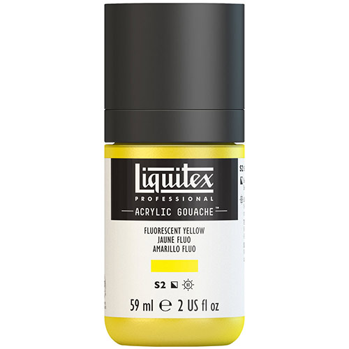Liquitex Professional Acrylic Gouache Paint - (2oz/59ml) Fluorescent Yellow