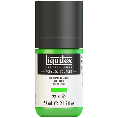 Liquitex Professional Acrylic Gouache Paint - (2oz/59ml) Fluorescent Green