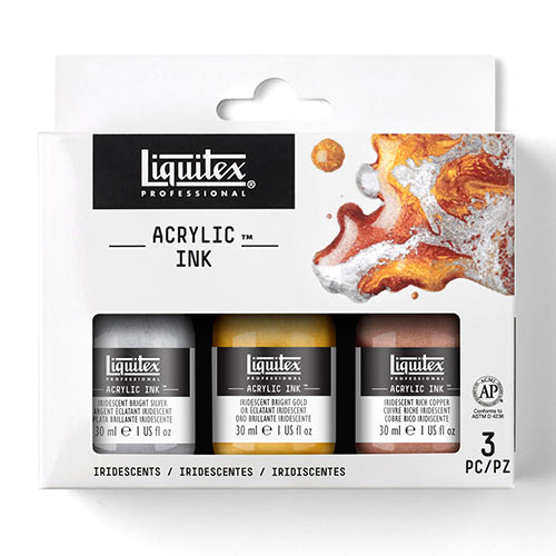 Liquitex Professional Acrylic Ink (1oz/30ml) - (3 Pack) Iridescents