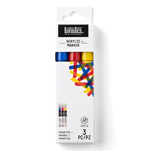 Liquitex Professional Fine Acrylic Paint Marker Set - (3 Pack) Primary Colors