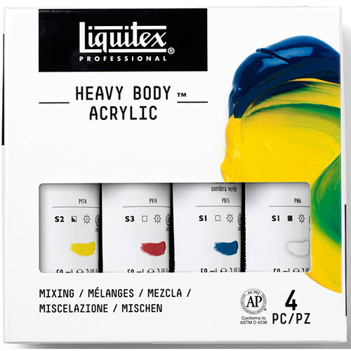 Liquitex Professional Heavy Body Acrylic Paint Set (2oz/59ml) - (4 Pack) Mixing