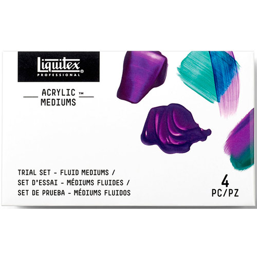 Liquitex Professional Acrylic Mediums Trial Set (2oz/59ml) - (4 Pack) Fluid Mediums