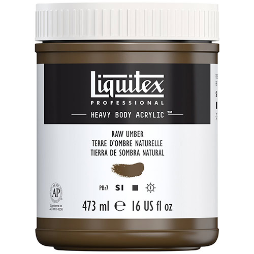 Liquitex Professional Heavy Body Acrylic Paint - (16oz/473ml) Raw Umber