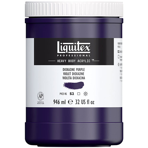 Liquitex Professional Heavy Body Acrylic Paint - (32oz/946ml) Dioxazine Purple