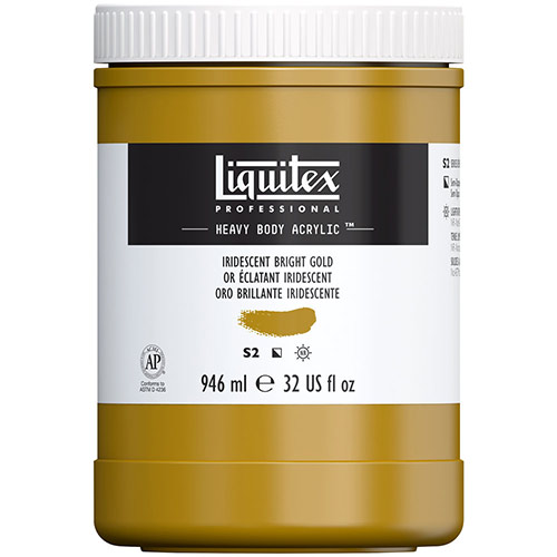 Liquitex Professional Heavy Body Acrylic Paint - (32oz/946ml) Iridescent Bright Gold