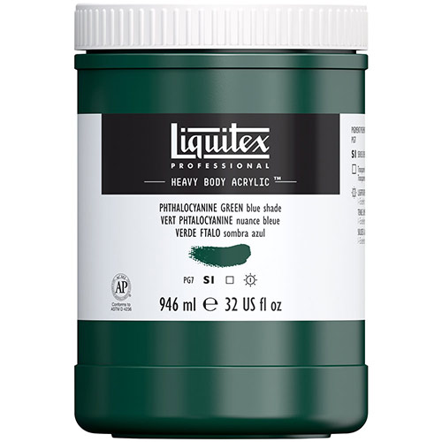 Liquitex Professional Heavy Body Acrylic Paint - (32oz/946ml) Phthalocyanine Green (Blue Shade)