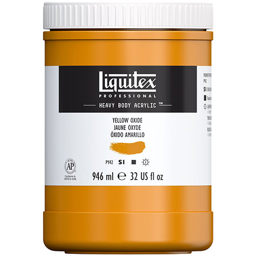 Liquitex Professional Heavy Body Acrylic Paint - (32oz/946ml) Yellow Oxide
