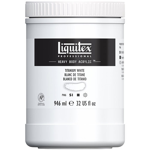 Liquitex Professional Heavy Body Acrylic Paint - (32oz/946ml) Titanium White