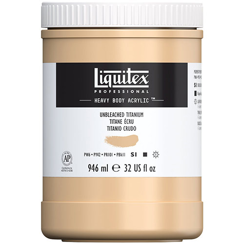 Liquitex Professional Heavy Body Acrylic Paint - (32oz/946ml) Unbleached Titanium