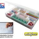 Plastic Box with 8 dividers 11 Inchx6.75 Inchx1.75 Inch