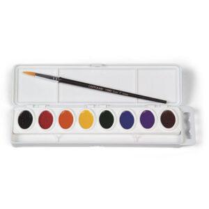 Crayola Semi Moist Oval Pan Set 8 With Brush